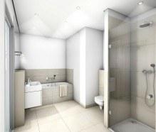 Bad in sandarbener moderner Ausstattung
