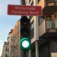 Straßenschild von Winterhude