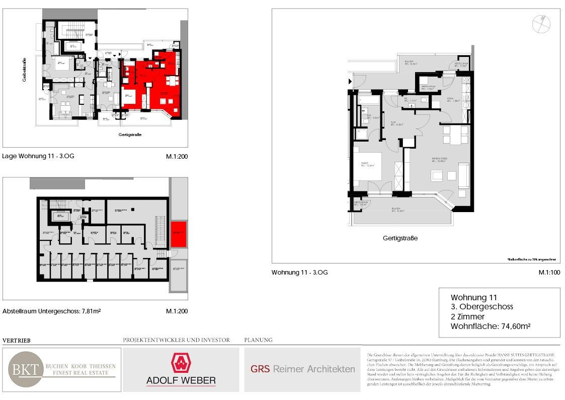 Grundriss Hanse Suites Wohnung 11