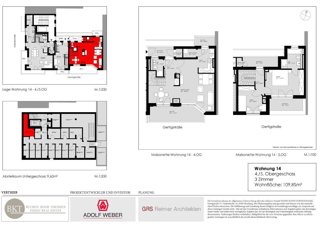 Grundriss Hanse Suites Wohnung 14