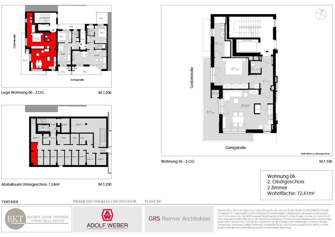 Grundriss Hanse Suites Wohnung 6