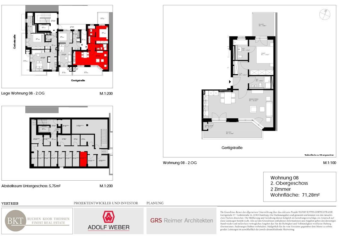 Grundriss Hanse Suites Wohnung 8