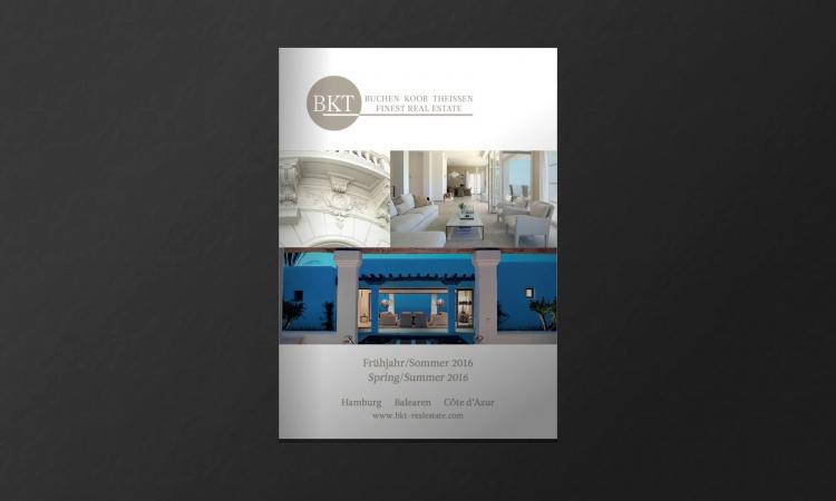 Titelseite der BKT Immobilien broschüre Frühjahr/Sommer 2016
